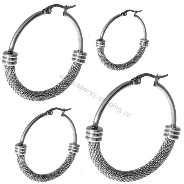 a7154dbcb Náušnice kruhy ocelové 40 | Šperky, naušnice, přívěsky, prsteny ...